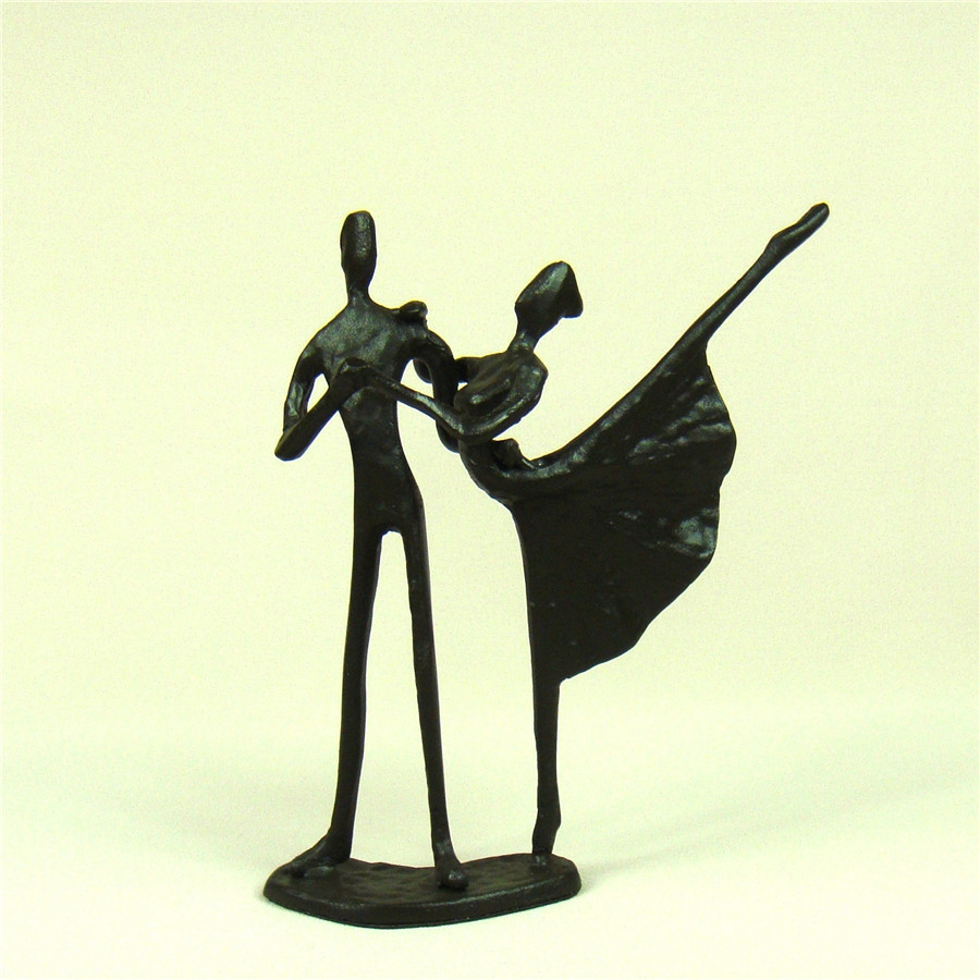 Handmade Iron art Couple Dancing Figure Model Abstract Metal Deut ...