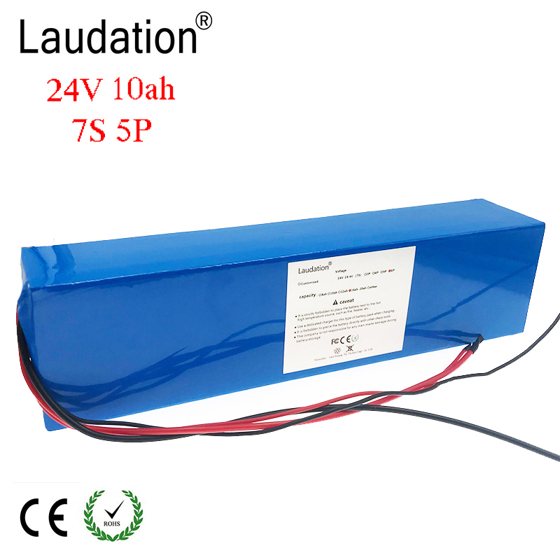 Laudation 24V 10ah Electric bicycle Lithium Ion Battery 29.4V 10000mAh 15A BMS 250W 350W 18650 Battery Pack Wheelchair MotorLaudation 24V 10ah Electric bicycle Lithium Ion Battery 29.4V 10000mAh 15A BMS 250W 350W 18650 Battery Pack Wheelchair Motor
