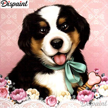 Dispaint Full Square/Round Drill 5D DIY Diamond Painting Dog flower scenery 3D Embroidery Cross Stitch Home Decor A12843