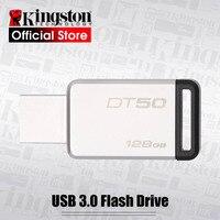 Kingston USB 3.0 Pendrive 128 GB USB Flash Drive USB 3.1 di memoria del Metallo Pen Drive di Memoria Bastone di cle usb DT50 128 gb Pendrive