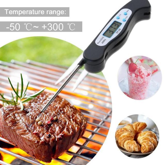 Data-hold Digitale Leggi Termometro Pieghevole Sonda Food Kitchen Cottura di Car