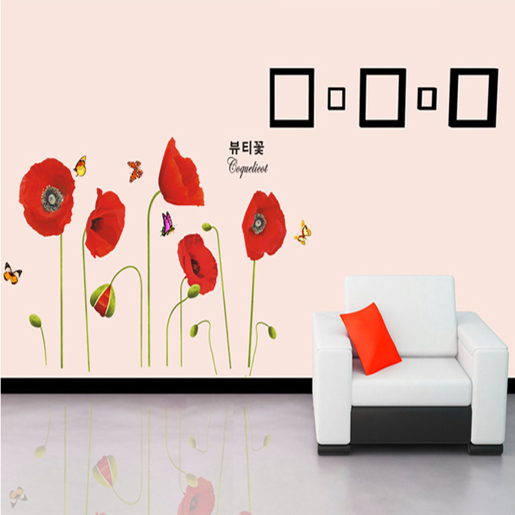 Compare prices on wall art poppies online shopping buy Low cost wall decor