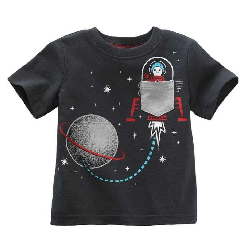 24fa6e282617 ... Hooyi 2018 Digger Boys Clothes Shirts Kids T-Shirts Baby Boys Tee Shirts  Summer Kid ...