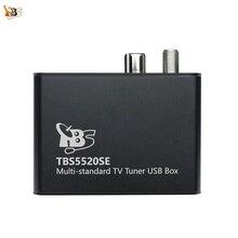 Sintonizador universal de tv tbs5520se, caixa usb multipadrão para visualização e gravação DVB S2X/s2/s/t2/t/c2/c/ISDB T fta tv no pc