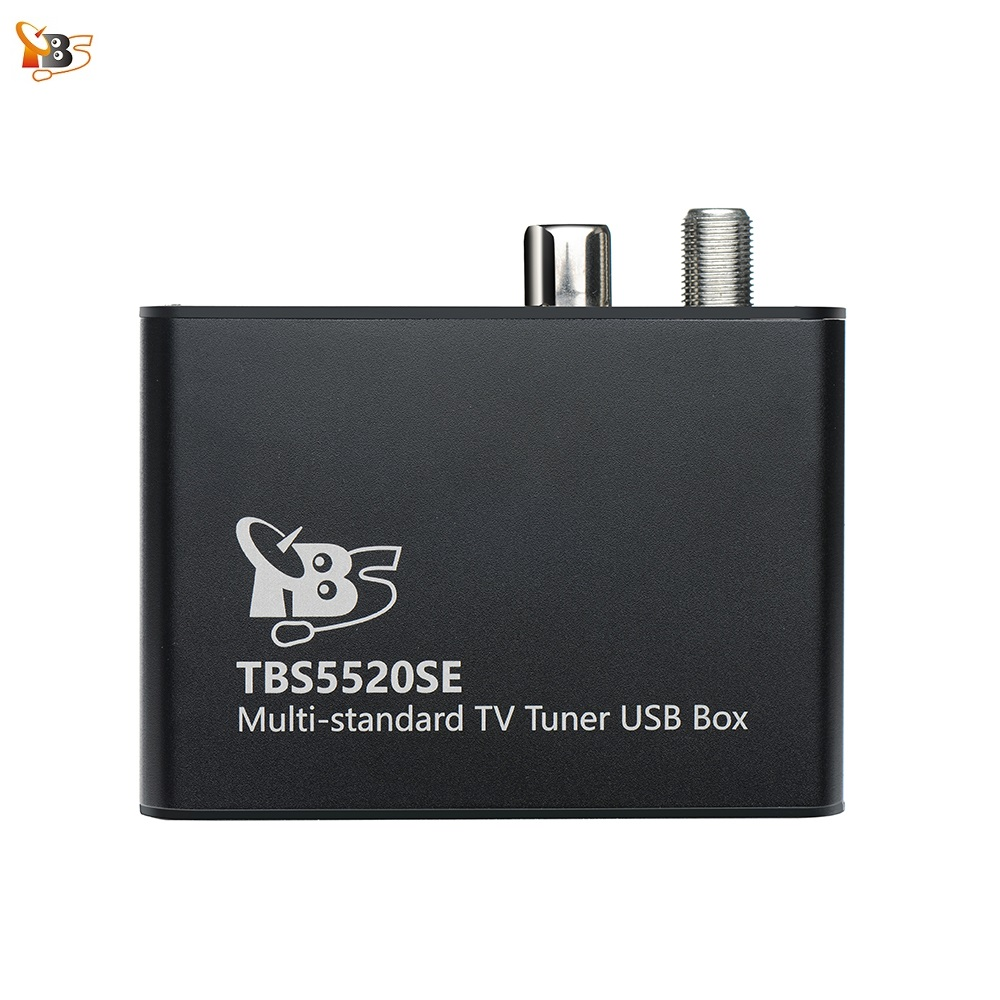 TBS5520SE Multi-standard Universal TV Tuner USB Box for Watching and Recording DVB-S2X/S2/S/T2/T/C2/C/ISDB-T FTA TV on PC rtl2832u r820t usb isdb t digital television receiver black white