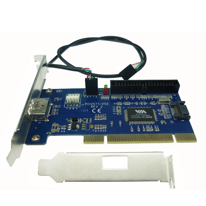Free shipping eSATA+USB Combo port PCI card internal SATA+IDE hybrid card RAID 40pin pci to power esata