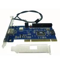 Free Shipping ESATA USB Combo Port PCI Card Internal SATA IDE Hybrid Card RAID 40pin Pci