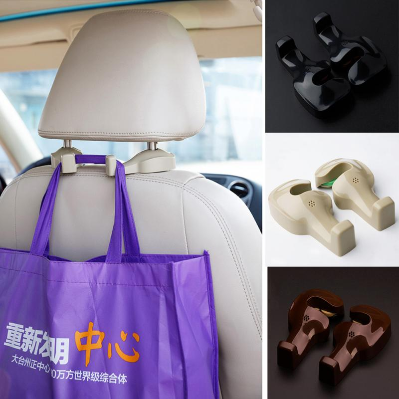 Auto Fastener & Clip Special Section 1 Pair Car Seat Back Headrest Hanging Hooks For Cargo Suv Organizer Universal Auto Fastener & Clips Interior Accessories Unequal In Performance