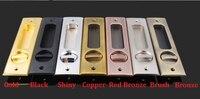 Square Sliding Pocket Door Lock Mortise Lock Set in Privacy Hook Bolt (Door Thickness: 35 45mm) Hanging slide wooden door