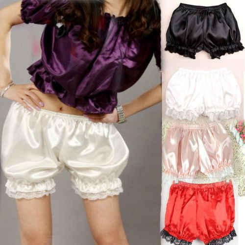Kobiet dziewczyny koronki krótkie spodnie wykończenia ciała krótkie spodenki spodnie podstawowe spodnie spodnie lato koronki szorty z marszczeniem