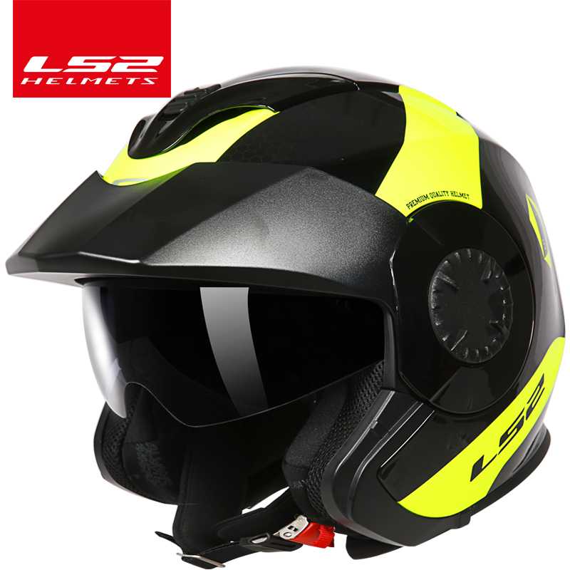 LS2 Verso open face auto motorcycle helmet LS2 OF570 Old locomotive retro vintage helmet 3/4 open face scooter helmets ls2 helmet