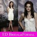 Кристен стюарт платье белый с коротким коктейль homecoming-линии сумерки
