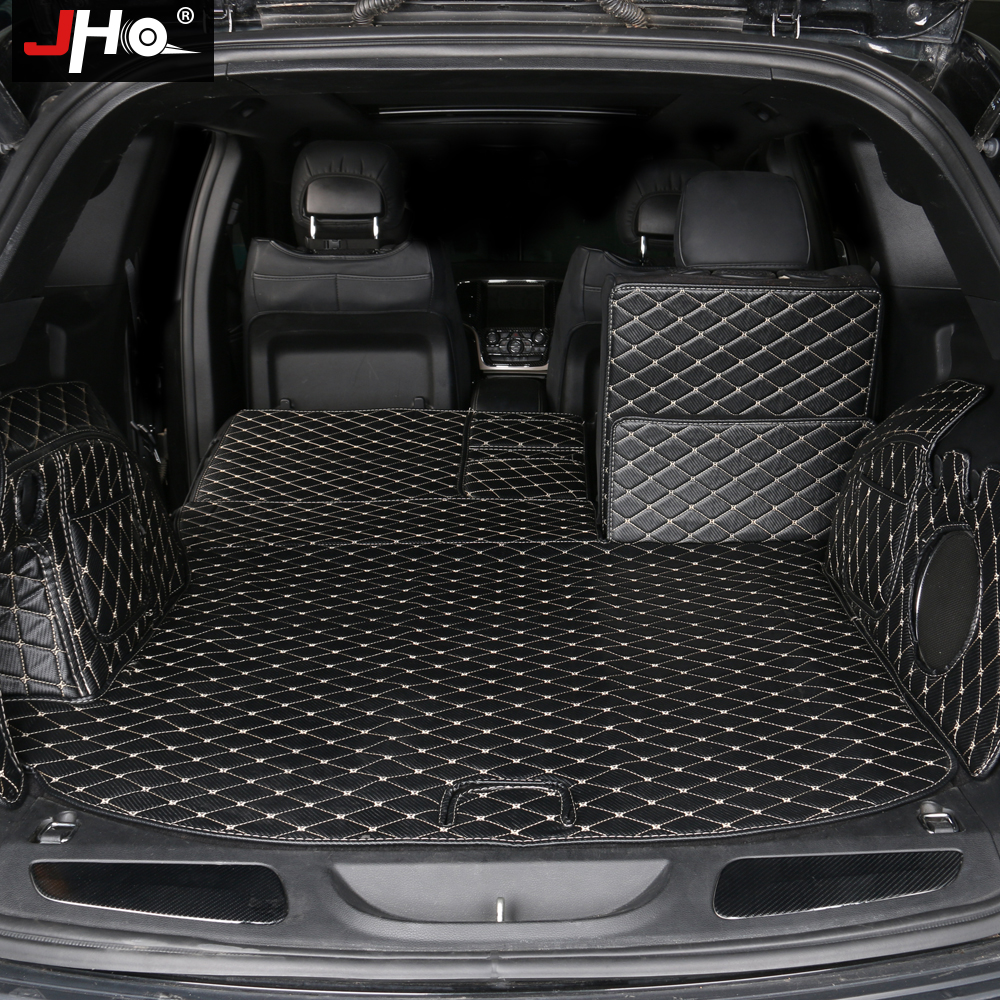 JHO Car Trunk Mats For 2011-2019 Jeep Grand Cherokee 2018 2017 2016 2015 2014 2013 2012 Cargo Liners Protector Accessories