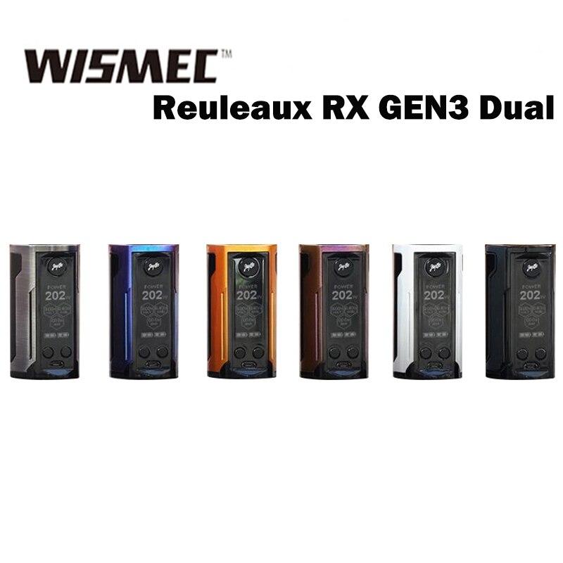 Wismec Reuleaux RX GEN3 Dual Mod 230W max output Powered by Dual 18650 Cells cigarette electronique