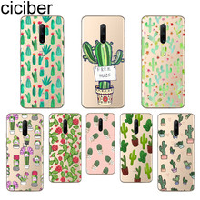 ciciber Plant Cactus Phone Case For Oneplus 7 Pro 1+7 Pro Soft TPU Cover for Xiaomi 9 Coque For Redmi Note 7 6 Pro Funda Shell