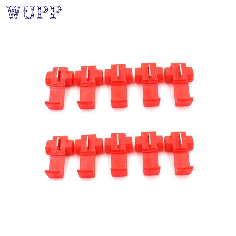 Car styling Red 10Pcs Quick Splice Wire Cable Connector Scotch Lock Conductor Block