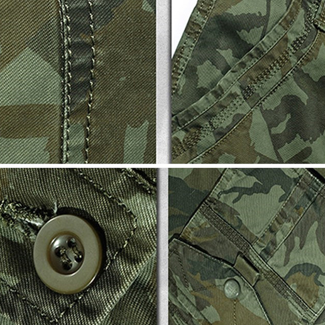 Breathable Cotton Camouflage Summer Shorts for Men