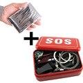 Equipamento portátil de Emergência Ao Ar Livre Saco De Emergência Caixa de Kit de Sobrevivência Auto-ajuda Caixa de Equipamento SOS Para Camping Caminhadas