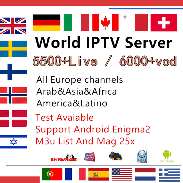 US $23 35 |French IPTV ,Spain, Portugal, Italy, Arabic IPTV Stalker IPTV  Subscription Wisdom Support Android m3u enigma2 mag250 smart iptv-in