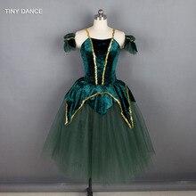 5df44ea265 New Design of Child   Adult Romantic Ballet Dance Tutus Green White Color  Long Tutu