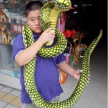 Очень длинная 280 см имитация змеиной кобры плюшевая кукла забавная игрушка украшение дома подарок h2833