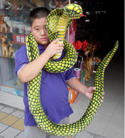 very long 280cm simulation snake cobra plush doll funny toy home decoration gift h2833