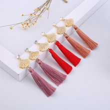 Fashion Ladies Earrings Classic Creative Tassel Pendant Jewelry Ladies Dignified Party Exquisite Long Bohemian Style Jewelry new ladies long pendant metal tassel earrings fashion jewelry personality geometric ladies earrings pendant jewelry