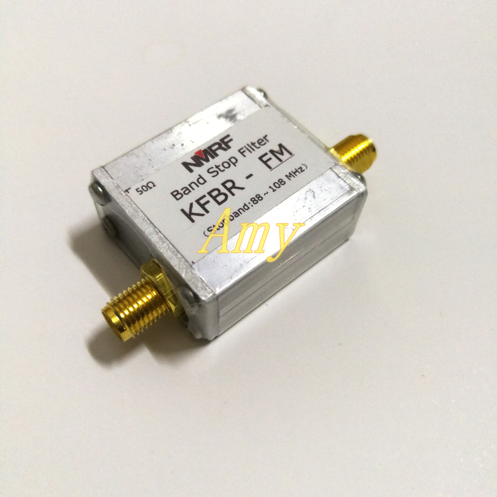 88 ~ 108MHz LC band stop filter, remove FM FM broadcast signal, SMA interface.