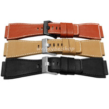 34mm*24mm Black Yellow Red Brown Watch Band Genuine Leather 3mm Thick Band Strap Belt Silver Pin Buckle 20 22 24 26mm new men lady black gray green dark light brown watch band genuine leather thick band strap belt silver pin buckle