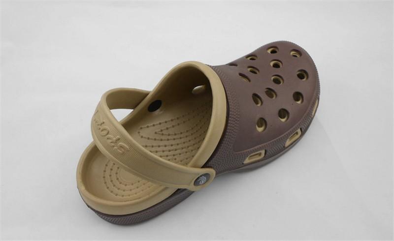 New Arrival Men Garden Shoes EVA Beach Slippers For Men Breathable Anti-slip Bottom Summer Shoes HSA20  (10)