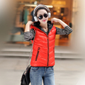 2017 new hot selling Women's vest with a hood down cotton waistcoat spring and autumn Women cotton vest female vest outerwear