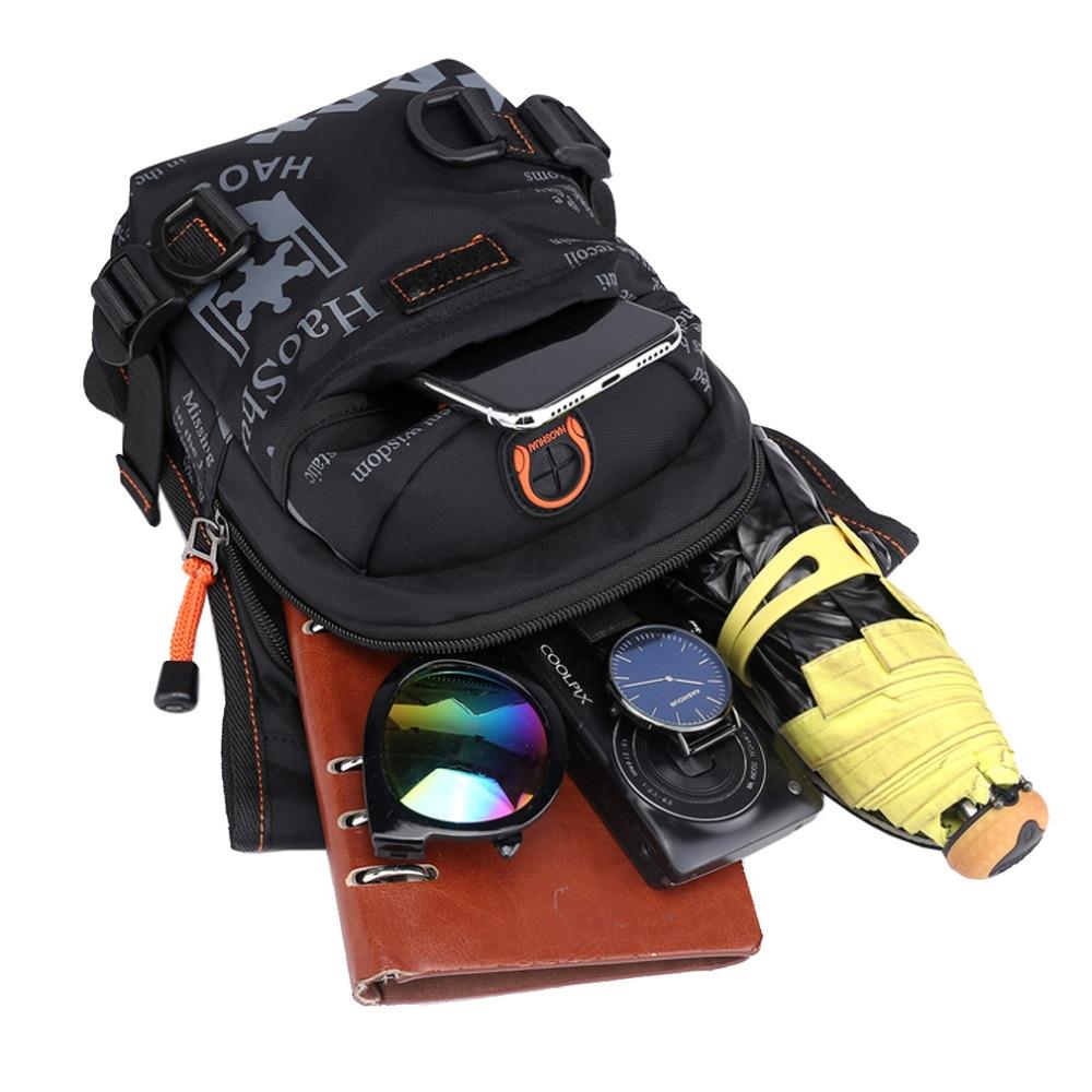 Mænd vandtæt nylon drop ben taske lår hip bum bælte fanny pack - Bæltetasker - Foto 6