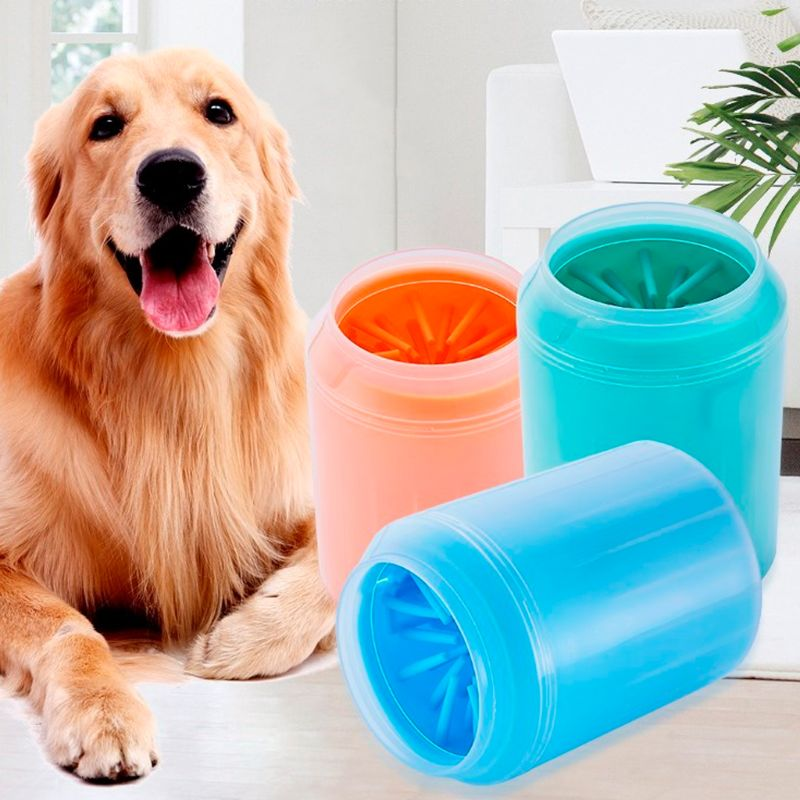 Dog Paw Cleaner Soft Silicone Portable Pet Foot Washer Cup Paw Clean Brush Quickly Washer Dirty Pet Cat Foot Cleaning Brush