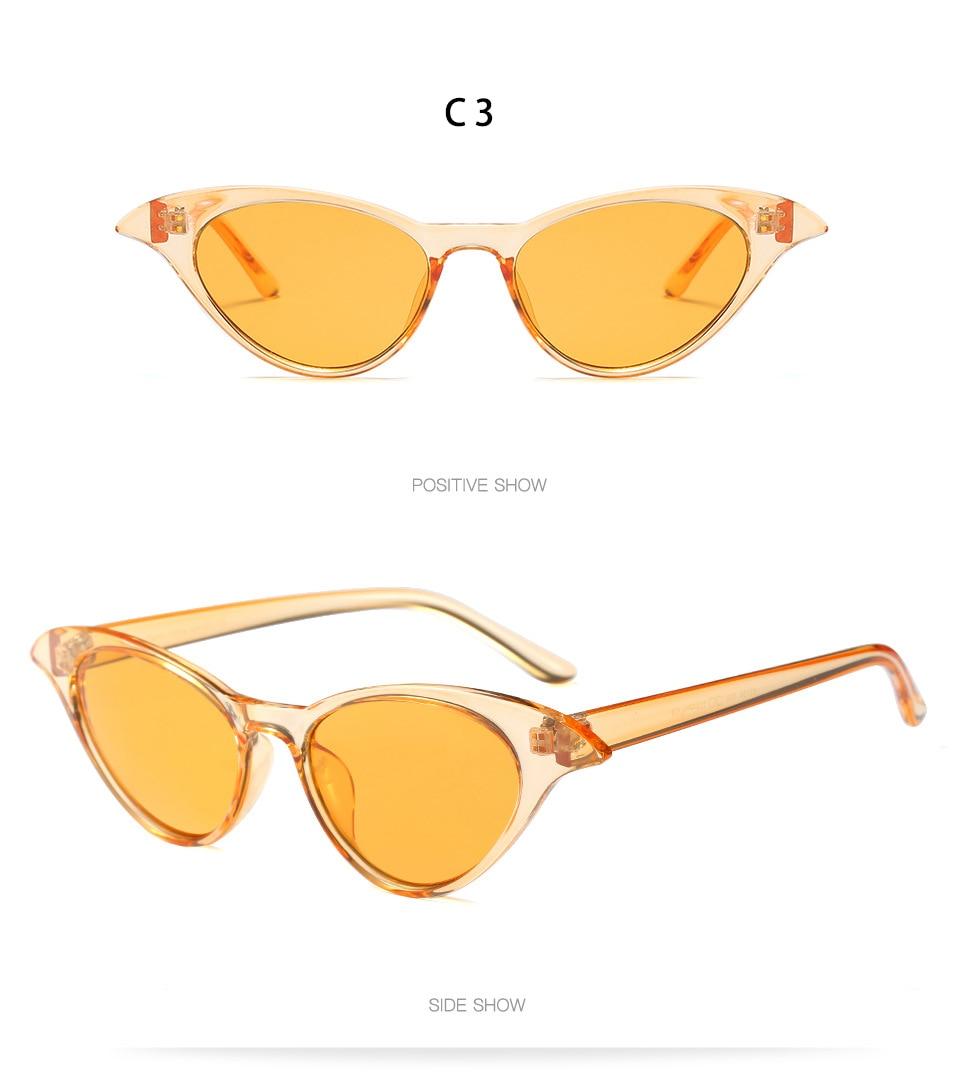 cceab60546fc4 Étroite Cat eye Femmes lunettes de Soleil Marque Designer Rétro Lunettes De Soleil  Homme Mode Femme Lunettes Oculos de sol UV400 Classique lunettes de ...