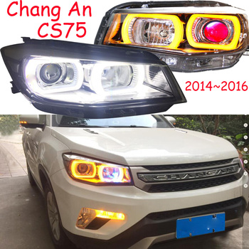 2pcs Bumper lamp for ChangAn CS75 Headlight 2014 2015 2016year DRL Bi Xenon Lens Chang An CS 75 HEAD LIGHT