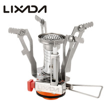 Lixada 3000W Super Lightweight Mini Pocket Cooking Burners 95g Folding Camping Gas Stove Outdoor Picnic Cooking Stove pechoin 95g