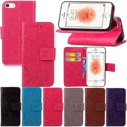 For Flip Wallet Case iPhone 5s Leather Case For iPhone 5 SE Shockproof Soft Silicone Cover Stand Phone Bag For iPhone 5c 1
