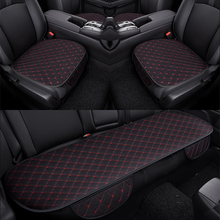 KKYSYELVA 3PCS  Easy Install Car Seat Cushion Cover Universal Auto Front Back Seat Covers Car Chair Mat Pad Interior Accessories car styling elastic polyester car seat covers front back seat cushion cover auto chair universal fit interior accessories