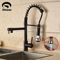 NEW Oil Rubbed Bronze Spring Kitchen Faucet Swivel Spouts Vessel Sink Mixer Tap
