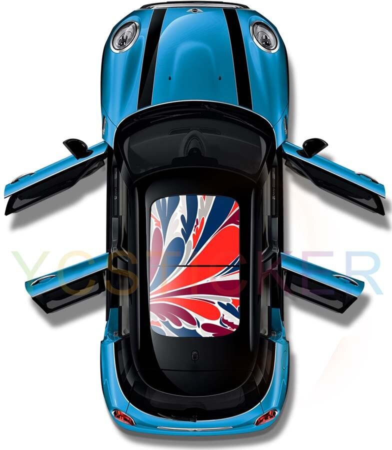 Aliexpress meilleur vendeur décoration voiture toit panoramique auto-adhésif vinyle autocollant autocollant résistance uv voiture toit ouvrant avery autocollant