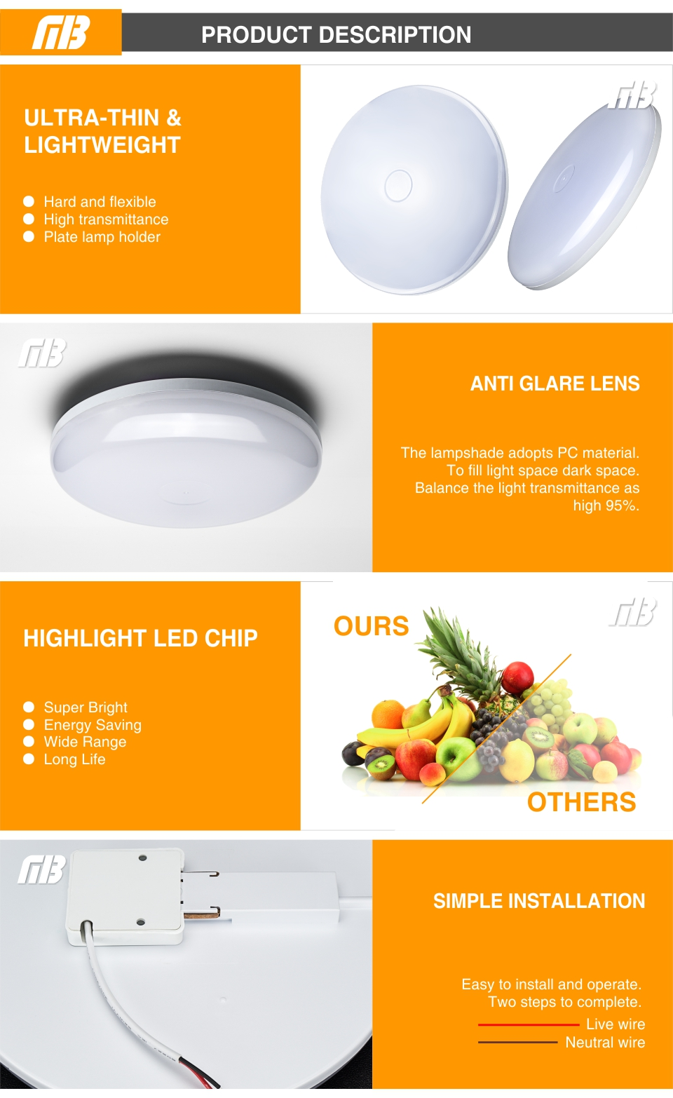 HTB1H2uNavfsK1RjSszgq6yXzpXaT LED Panel Lamp LED Ceiling Light 48W 36W 24W 18W 13W 9W 6W Down Light Surface Mounted AC 85-265V Modern Lamp For Home Lighting