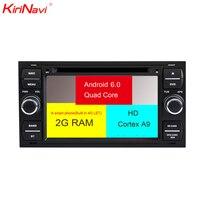KiriNavi Octa core 4 г пусть android 7 сенсорный экран автомобиля dvd для Ford Focus Fiesta Transit радио Поддержка 4 K видео 4G
