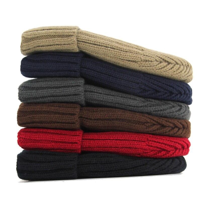 Xlamulu Fashion Men Skullies Beanies Knitted Hat Winter Hats For Women Plain Warm Male Gorros Bonnet Caps Thicken Solid Beanies 2