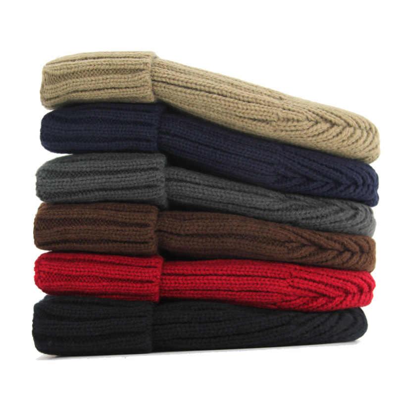Xlamulu, Gorros de moda para hombre, gorro boina tejida, sombreros de Invierno para mujer, Gorros lisos y cálidos, Gorros gruesos y sólidos