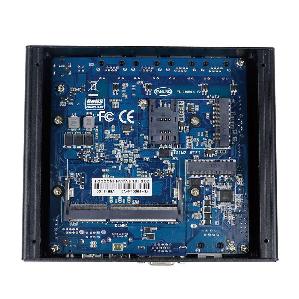 """Minisys 4 Ethernet RJ-45 puertos Lan Mini PC Intel Celeron J1900 quad core 2,0 GHz pfsense firewall router soporte 2,5 """"HDD/SSD"""