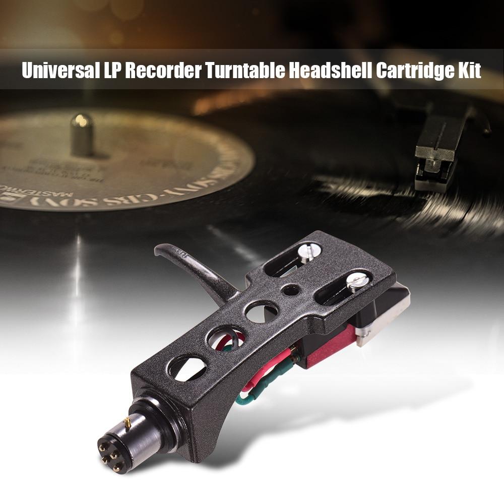 LP Vinyl Record Player Universal Headphone Set with Stylus and Head Holder for LP120-USB / LP240-USB / LP1240-USB