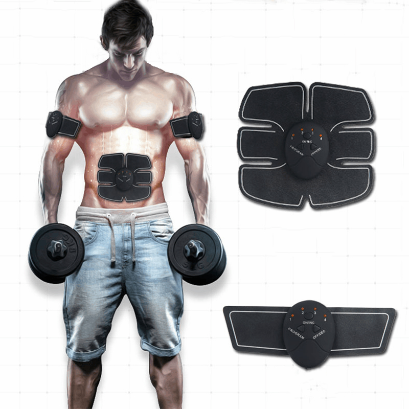 Electronic Abdominal <font><b>Muscle</b></font> Trainer Massager Smart ABS Stimulator Arms Belly Fat Burner Exercise Pluse Slimming Massage Pads