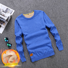 Plus Velvet Winter Cashmere Sweater Man O-neck 12 Colors Jumper Keep Warm Knitted Sweaters Male Pullover 2017 Thick Sweater Men