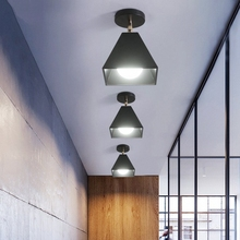 Indoor LED Ceiling Lights Iron Black Ceiling Lamp Retro Maca