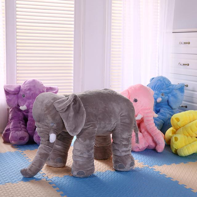 Decoração do quarto do bebê da cama travesseiro newborn fotografia props Boneca Calma bebê Toy Kids Brinquedos elefante de Pelúcia Travesseiro Almofada Do Assento